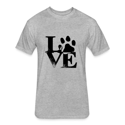 Dog Love - Fitted Cotton/Poly T-Shirt by Next Level
