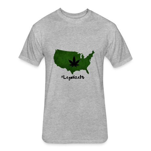 #LegalizeIt - Fitted Cotton/Poly T-Shirt by Next Level