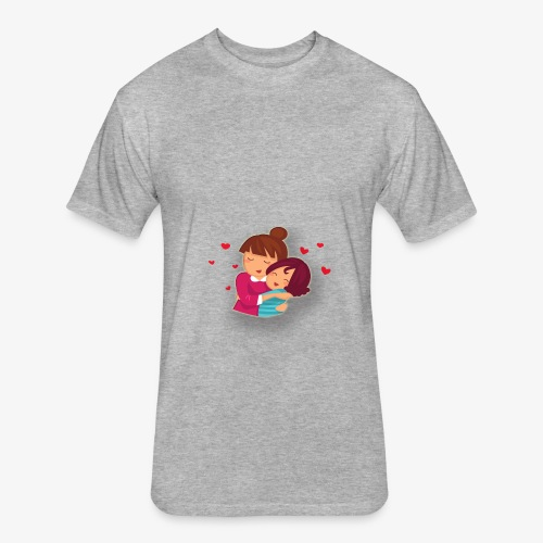 lovely mother ,mom day - Fitted Cotton/Poly T-Shirt by Next Level