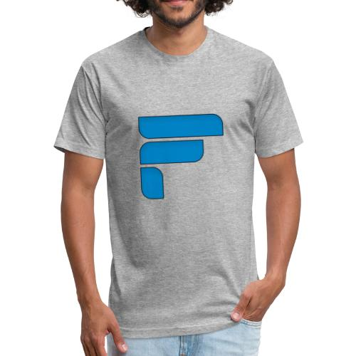Frosty Blue Logo Center - Fitted Cotton/Poly T-Shirt by Next Level