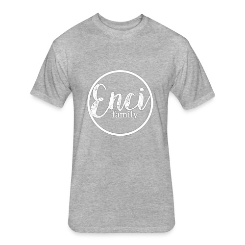 Enci Family Logo - Fitted Cotton/Poly T-Shirt by Next Level