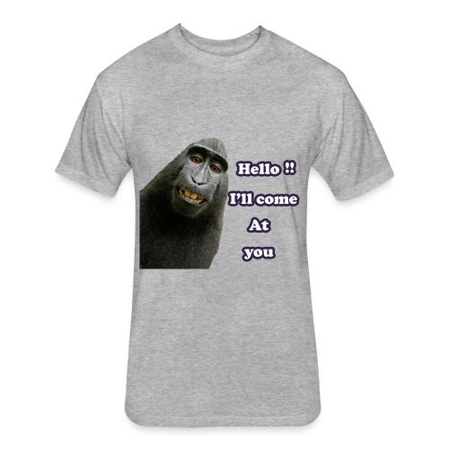 Monkey t-shirt - Fitted Cotton/Poly T-Shirt by Next Level