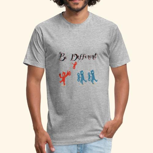Be Different - Fitted Cotton/Poly T-Shirt by Next Level