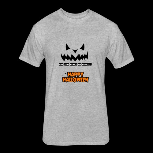 happy halloween day t-shirt for men, women , youth - Fitted Cotton/Poly T-Shirt by Next Level