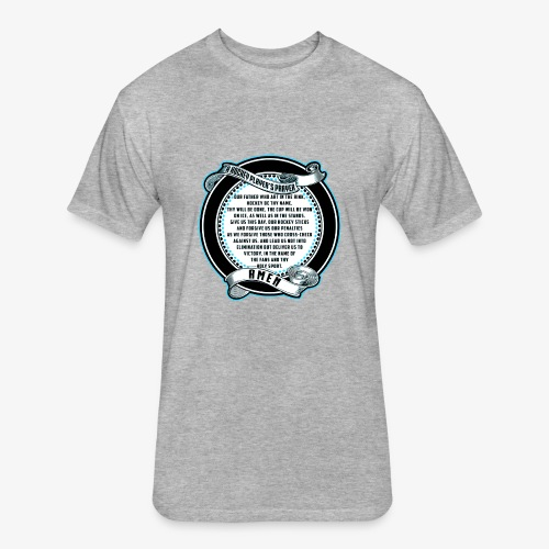 Hockey prayer - Fitted Cotton/Poly T-Shirt by Next Level