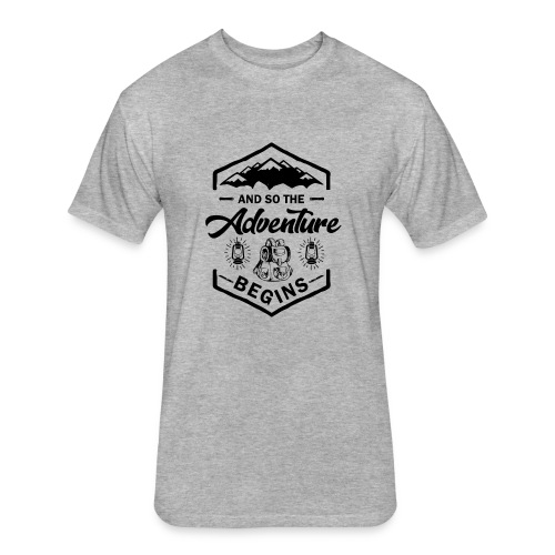 And So The Adventure Begins T shirt Wild Hiking - Fitted Cotton/Poly T-Shirt by Next Level