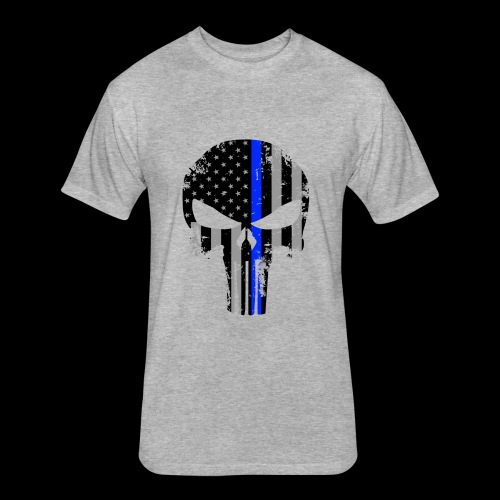 cop flag - Fitted Cotton/Poly T-Shirt by Next Level