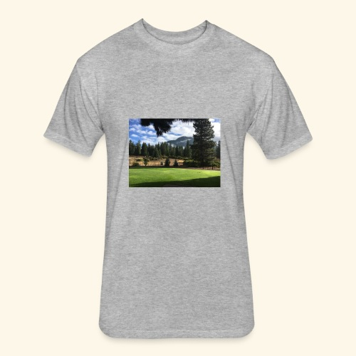 mountain scenery mount shasta pic - Fitted Cotton/Poly T-Shirt by Next Level