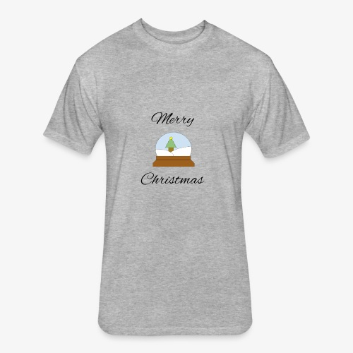Merry Christmas - Fitted Cotton/Poly T-Shirt by Next Level