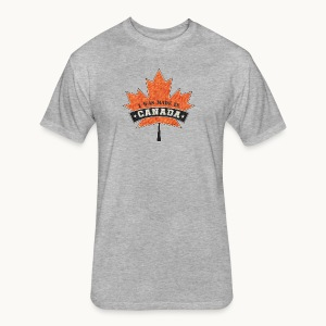 I WAS MADE IN CANADA -Linen -Carolyn Sandstrom - Fitted Cotton/Poly T-Shirt by Next Level