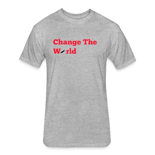 Change The World Falcon Shirt - Fitted Cotton/Poly T-Shirt by Next Level