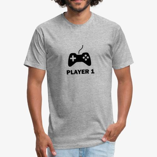 Player 1 - Fitted Cotton/Poly T-Shirt by Next Level