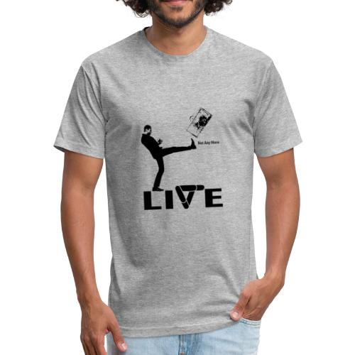 live - Fitted Cotton/Poly T-Shirt by Next Level