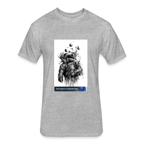 Astronaut Art - Fitted Cotton/Poly T-Shirt by Next Level
