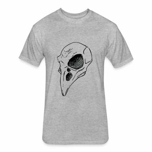 Bird Skull - Fitted Cotton/Poly T-Shirt by Next Level