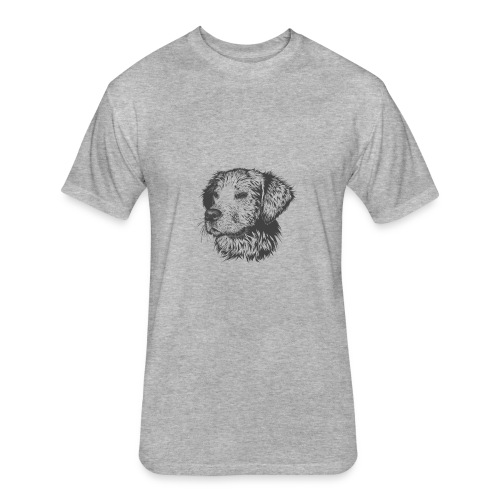 Pupper - Fitted Cotton/Poly T-Shirt by Next Level