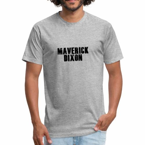 Maverick Black - Men's T-shirt - Fitted Cotton/Poly T-Shirt by Next Level