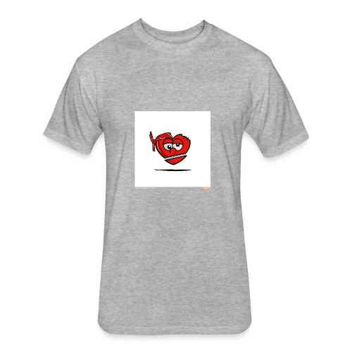 GLO Heart - Fitted Cotton/Poly T-Shirt by Next Level