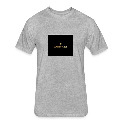 Connor Vlogs Logo - Fitted Cotton/Poly T-Shirt by Next Level
