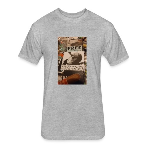 FREE LURK - Fitted Cotton/Poly T-Shirt by Next Level