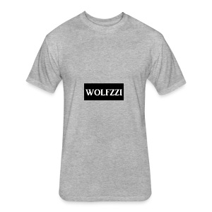 wolfzzishirtlogo - Fitted Cotton/Poly T-Shirt by Next Level