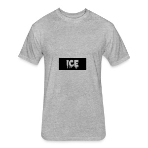 Ice Apperall Box Logo - Fitted Cotton/Poly T-Shirt by Next Level