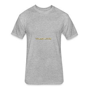 TROLLIEUNICORN gold text limited edition - Fitted Cotton/Poly T-Shirt by Next Level