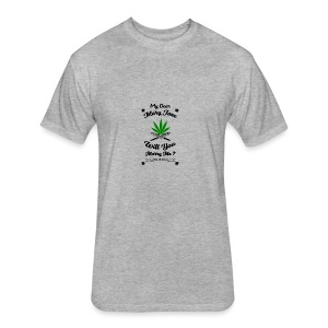 Mary Jane Weed 420 Marijuana - Fitted Cotton/Poly T-Shirt by Next Level