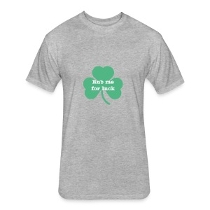 Rub me for luck - Fitted Cotton/Poly T-Shirt by Next Level