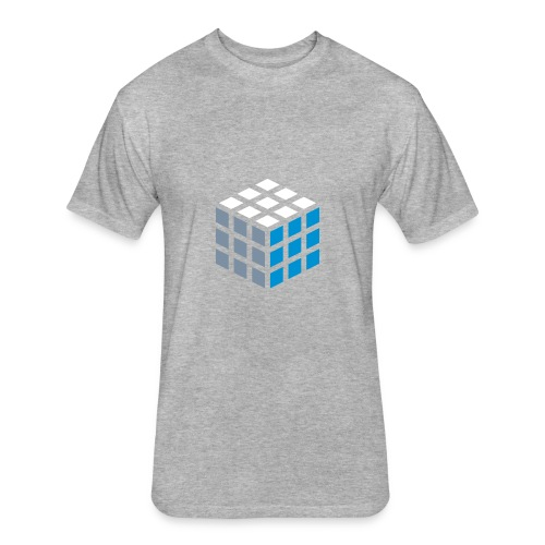 Cube - Fitted Cotton/Poly T-Shirt by Next Level