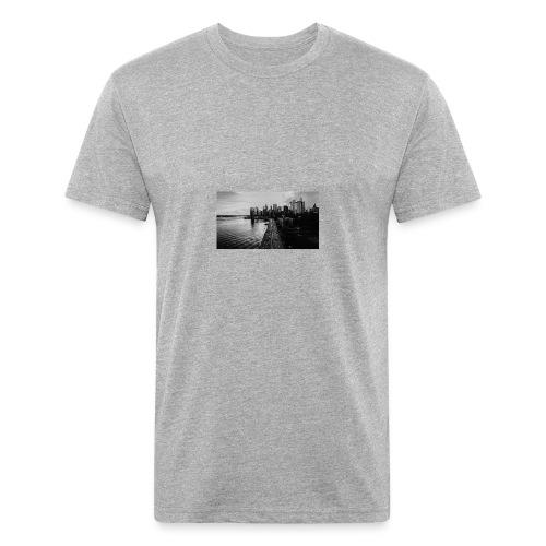 Manhattan Bridge Walkway T-shirt - Fitted Cotton/Poly T-Shirt by Next Level