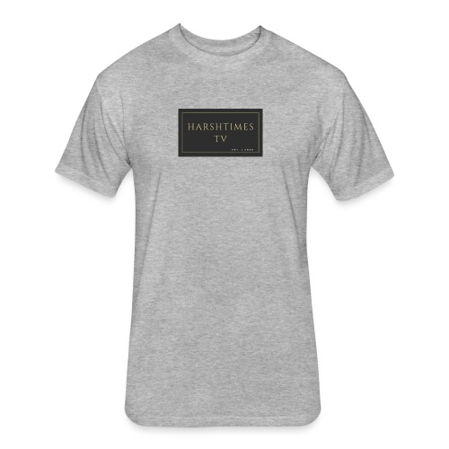 HarshTimes TV. - Fitted Cotton/Poly T-Shirt by Next Level
