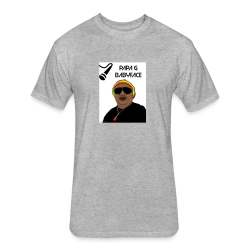 papa g - Fitted Cotton/Poly T-Shirt by Next Level