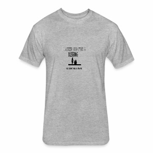 iasked god2 - Fitted Cotton/Poly T-Shirt by Next Level