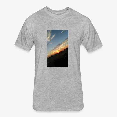 California sunset - Fitted Cotton/Poly T-Shirt by Next Level
