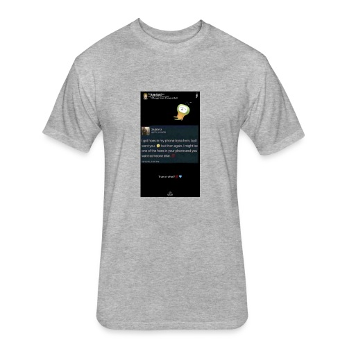 Quote - Fitted Cotton/Poly T-Shirt by Next Level