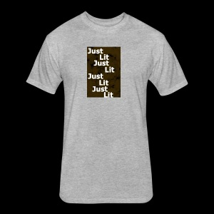 just lit - Fitted Cotton/Poly T-Shirt by Next Level