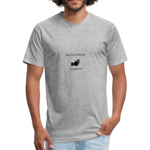 MizTech/Repair Customer Logo - Fitted Cotton/Poly T-Shirt by Next Level