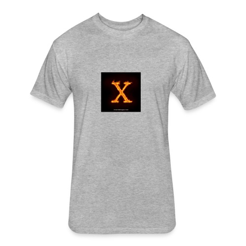 X glow xlarge - Fitted Cotton/Poly T-Shirt by Next Level