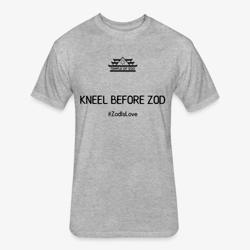 Kneel Before Zod - Fitted Cotton/Poly T-Shirt by Next Level