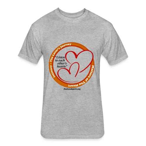 Matters of the Heart T-Shirt: Listen to each other - Fitted Cotton/Poly T-Shirt by Next Level