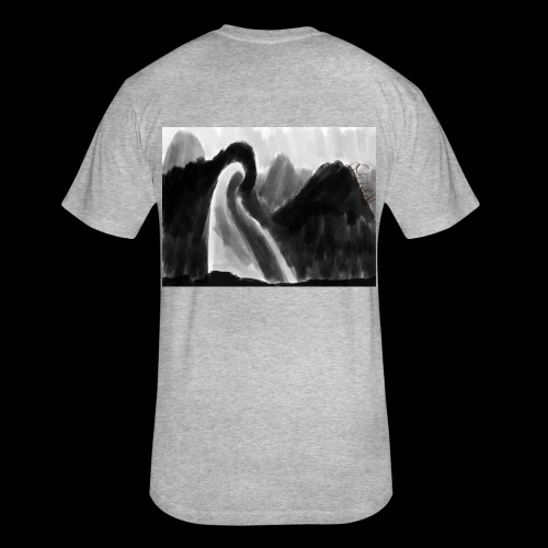 Ghost atop a mountain - Fitted Cotton/Poly T-Shirt by Next Level