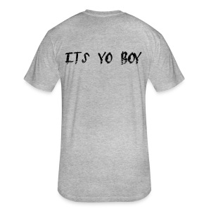 yo boy - Fitted Cotton/Poly T-Shirt by Next Level