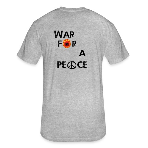 UCK-KLA War for a peace - GunsOfAlbania Design - Fitted Cotton/Poly T-Shirt by Next Level