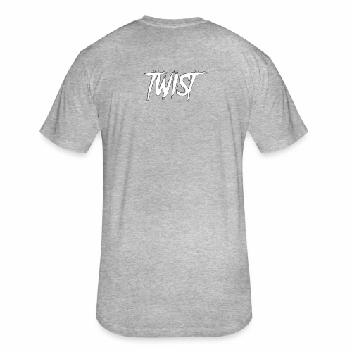 Aura Twist - Fitted Cotton/Poly T-Shirt by Next Level