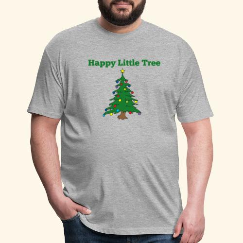 Christmas Tree HAPPY TREE TEE - Fitted Cotton/Poly T-Shirt by Next Level
