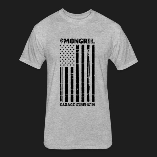 MGS flag back black png - Fitted Cotton/Poly T-Shirt by Next Level
