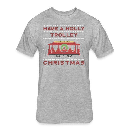 holly trolley - Fitted Cotton/Poly T-Shirt by Next Level