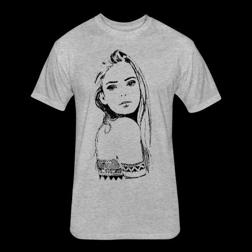 women - Fitted Cotton/Poly T-Shirt by Next Level