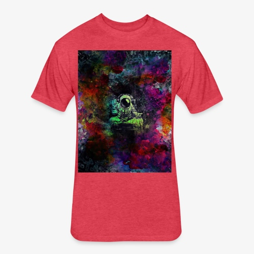 Astronaut - Fitted Cotton/Poly T-Shirt by Next Level